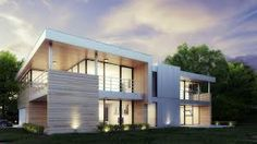 bone structure house - Google Search Steel Frame House, Container Architecture, Energy Efficient Homes, Prefab Homes, Modern Farmhouse, Outdoor Structures, House Styles, Building, Outdoor Decor