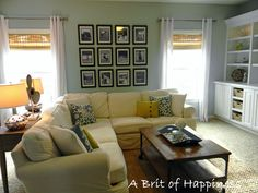 Remodelaholic | Beach Costal Family Room Makeover