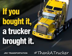 National Truck Driver Appreciation Week is an opportunity to thank hard-working men and women who serve us all every day. From all of us here at JRC, thank you, drivers! Hard Working Man, Working Men, Trucker Quotes, Transportation, Motivational Quotes, Trucks, Opportunity, Appreciation, Life