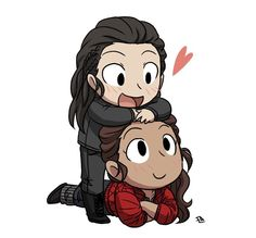 Octavia and Raven Raven Fanart, The 100 Quotes, 100 Memes, The 100 Clexa, Bellarke, Cool Art, Awesome Art, Tv Series, Chibi
