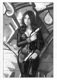 Black Widow Grafiti by TimGrayson.deviantart.com on @deviantART