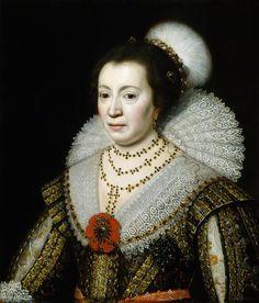 Anne, Lady Carleton, studio of Michiel Jansz. van Mierevelt, circa 1625 - NPG 111 - © National Portrait Gallery, London