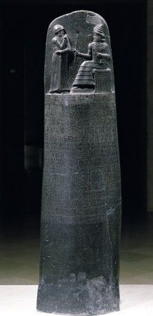Law Code Stele of King Hammurabi basalt, Babylonian, B. (Musée du Louvre, Paris) A stele is a vertical stone monument or marker often inscribed with text or with relief carving. Ancient Aliens, Ancient Egypt, Ancient History, Ancient Greece, Ancient Mesopotamia, Ancient Civilizations, World History, Art History, European History