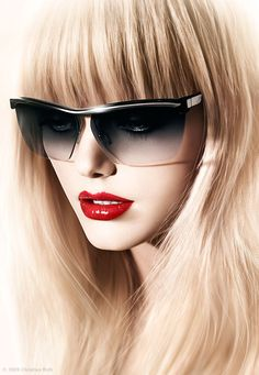 The official site of Christian Roth Eyewear - sunglasses and eyewear handmade in Italy. The subversive legacy has forged over 30 years. Luxury Sunglasses, Sunglasses Women, Oakley Sunglasses, Glamour, Perfect Red Lips, Shady Lady, Scarf, Madame, Girls Best Friend
