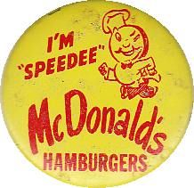 Vintage McDonald's pinback