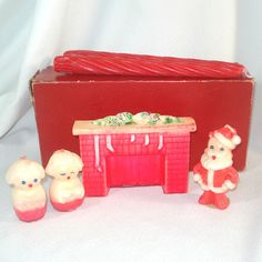 Gurley Tavern Fireplace Santa Carollers Christmas Candles   eBay-I used to have this Santa ornament and a few others by the same company...