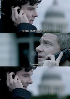 Such a poignant moment. Just look at John's earnest expression, and Sherlock's smile.