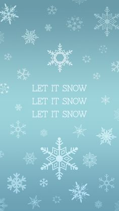 Let it snow snowflake iPhone wallpaper | plus more free holiday-theme wallpapers!