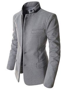 Showblanc (SBDJK8) Man's Slim FIt Chinese Collar 2 button Casual Style Blazer GRAY Large(US Medium) Showblanc http://www.amazon.com/dp/B00SV123MI/ref=cm_sw_r_pi_dp_lfX0ub066DHFZ