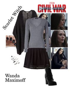 """Wanda Maximoff/Scarlet Witch - Captain America: Civil War"" by gone-girl ❤ liked on Polyvore featuring Topshop, H&M, New Look, Stylebop, marvel, scarletwitch, wandamaximoff, CaptainAmericaCivilWar and CACW"