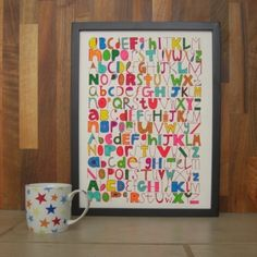 alphabetty - colour-it-yourself screenprinted poster