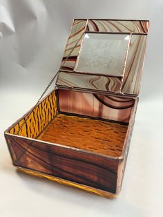 de0157f67424 Contemporary Stained Glass Jewelry Box Glue Chip by PeaceLuvGlass Glass  Jewellery Box