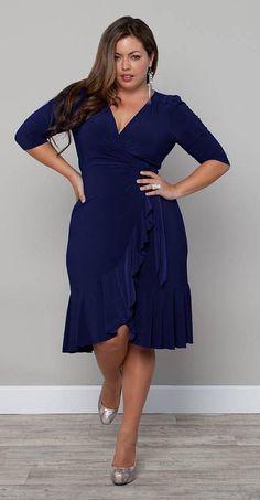 Flattering dress styles for plus size Blue Plus Size Dresses, Plus Size Sundress, Plus Size Outfits, Curvy Girl Fashion, Plus Size Fashion, Style Fashion, Plus Zise, Vestidos Plus Size, Flattering Dresses