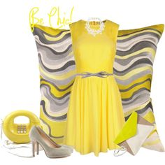 """grey and yellow"" by latinaconestilo on Polyvore"