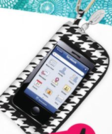 New houndstooth cell holders with touchscreen protector available at Blue Bumble Bee