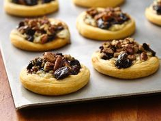 Fig and Blue Cheese Appetizer Tarts. A good way to use up the blue cheese I have sitting in the fridge. Maybe I will chop up some tart apples for a tangy kick to contrast with the figs and pecans