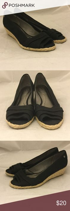 LimeLight Black Wedge Sandals LimeLight Black Wedge Sandals. Size 9. Heel size is 2 in. These Wedge sandals are end of season shelf pulls with little wear or blemishes. LimeLight Shoes Wedges