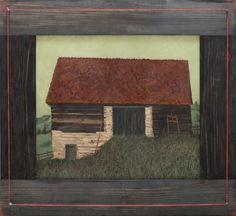 The red roof [1982] ION DUMITRIU 1943, Galaţi - 1998, Bucharest oil on canvas, 41 × 46 cm, signed and dated bottom right, in black, ID, (19)82 Valoare estimativă: € 1.000 - 1.600 Prețul de pornire se va situa sub valoarea minimă a evaluării  Conservation status: for further technical details, do not hesitate to contact loredana.codau@artmark.ro