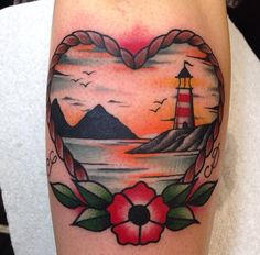 Step By Step Process To Help You Choose Your First Tattoo Design – Wrist Designs Future Tattoos, Love Tattoos, Beautiful Tattoos, Body Art Tattoos, Beach Tattoos, Traditional Lighthouse Tattoo, Neo Traditional Tattoo, Traditional Nautical Tattoo, Piercing Tattoo