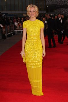 Not so mellow yellow, Elizabeth Banks at the European premiere of Hunger Games in , (photo by Dave Hogan/Getty Images)