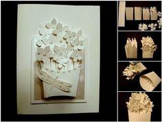 DIY Basket of Flowers Greeting Card | GoodHomeDIY.com Follow Us on Facebook --> https://www.facebook.com/pages/Good-Home-DIY/438658622943462?ref=hl