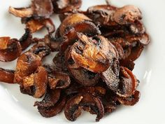 Sweet, smoky, and crisp mushroom bits that can be used anywhere that you'd use bacon bits.