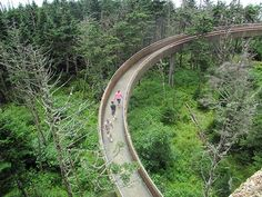 Clingmans Dome observation tower – Great Smoky Mountains National Park, USA. Looks so cool!