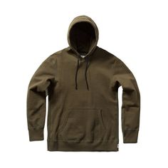 Reigning Champ Olive Green Pullover Twill Terry Midweight Hooded Sweatshirt