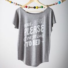 'Let Me Go Back To Bed' Women's Loose Fit T Shirt. Cosy up this winter with snuggle-worthy knits and comfy loungewear.