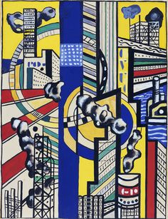 Study for Cinematic Mural, Study V. (1938-39) Gouache and pencil on board. Fernand Léger.
