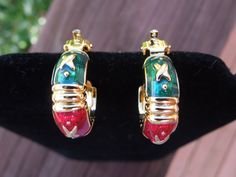 Vintage Joan Rivers Earrings Clip On Signed by Angieswonderfulgems, $14.00