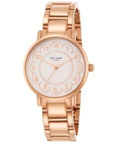 kate spade new york Women's Gramercy Rose Gold-Tone Stainless Steel Bracelet Watch 34mm 1YRU0791