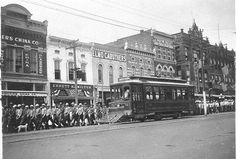 Fort Smith preserves the trolley tradition in part because before everything was paved, downtown Fort Smith looked like this: Back In Time, Back In The Day, Fort Smith Arkansas, Current Location, Local History, Hot Springs, Old Pictures, Wild West, Places Ive Been