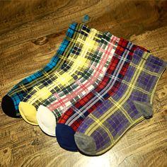 Gradient Plaid Warm Cotton Socks     #shoppinglist