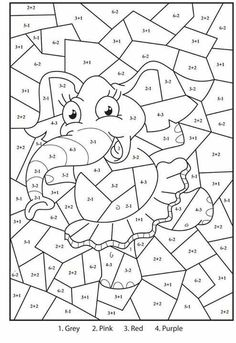 Spring Math Coloring Sheets - Spring Math Coloring Sheets, Coloring Pages Colouring In Maths Game Math Facts Easter Cartoon Coloring Pages, Printable Coloring Pages, Coloring For Kids, Coloring Pages For Kids, Coloring Sheets, Coloring Books, Alphabet Coloring, Adult Coloring, Drawing Activities