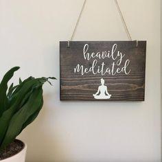 Yoga Studio Decor, Yoga Decor, Pilates, Namaste Sign, Storefront Signs, Meditation Room Decor, Tool Organization, Organizing Tools, Open Signs