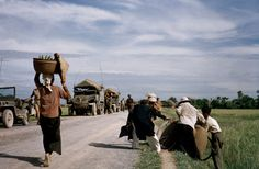 INDOCHINA (VIETNAM). May, 1954. On the road from Namdinh to Thaibinh.