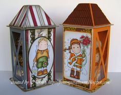 Stempeleinmaleins: Latern Gift Box - super cute idea for any season.  Although the tutorial is in German, I clicked on the translater which put it to English.  So I made a document of the tutorial in English so I can refer to it later.