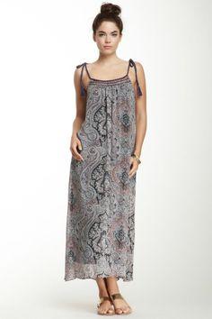 Mystree Braided Trim Maxi Dress