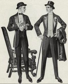 This outfit men wore was know as 'white tie'.  This was another popular outfit.