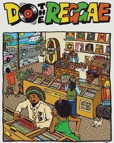 do the reggae Reggae Art, Reggae Music, Dub Music, Rastafari Art, Rasta Art, Pop Art Wallpaper, Hip Hop Art, Shows, Concert Posters