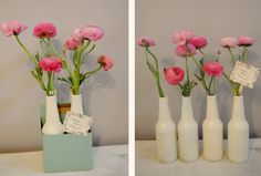 Painted Izze Soda Bottles and roses- want to do this for Mother's day to leave on friends door steps!