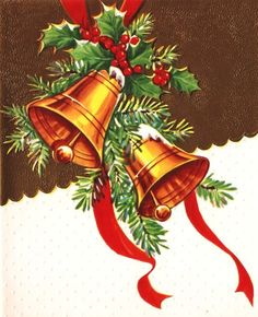 Vintage Holiday Bells---we're beginning to see them again---the big bells like when we were young in the 60's