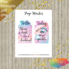 Free Printable Diamond Bookmarks