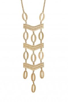 I am OBSESSED with this necklace. It looks great over solids or a print. It has a nice weight and adds flair to any outfit. Stella & Dot Kimberly Necklace