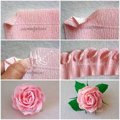 rose in carta crespa 6 modi per realizzarle facilmente tutorial explanations and free paper patterns to easily make crepe paper roses in this article I will explain 6 different ways to make them Paper Flowers Wedding, Tissue Paper Flowers, Fabric Flowers, Diy Flowers, Flower Paper, Autumn Flowers, Diy Paper, Paper Crafts, Diy Crafts