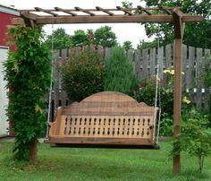 Custom Wood Swing by Country Custom Furnishings