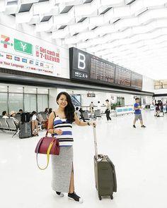 Follow me on instagram: @quennandher // LOUIS VUITTON BREA MM Epi leather bag // LOUIS VUITTON bag strap // FINDERS KEEPERS THE LABEL top // FASHION BUNKER FSHNBNKR BNKRLOVE // ADIDAS ORIGINALS slipons // Japan~ Japan~! 🤗 Airport look. 💙✈ // Narita International Airport, Japan. #AirportLook #AirportStyle