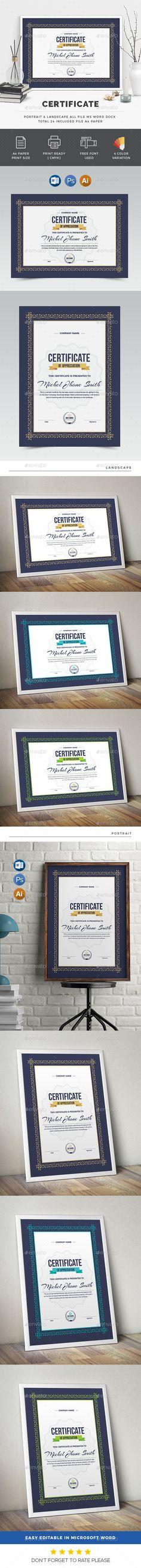 Multipurpose Certificate Certificate Template And Psd Templates