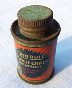 John Bull French Chalk Sprinkler vintage tin. by essenzials on Etsy